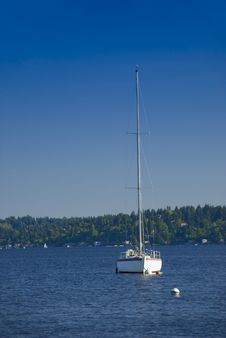 Free Sailboat Offshore Stock Photography - 2515112