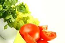 Salat Tomato Royalty Free Stock Photo