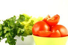 Free Salat Tomato Royalty Free Stock Photos - 2515208