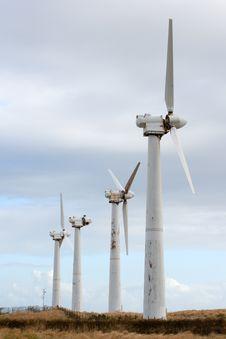 Free Four Wind Power Generators Royalty Free Stock Photos - 2515368