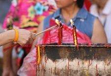 Incense Burning Royalty Free Stock Image