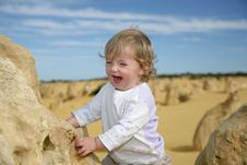 Free WA- Pinaccles -Happy Baby Stock Images - 2516844