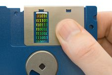 Free Bytes On Disk In Hand Stock Photo - 2518450