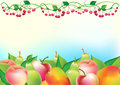 Free Fresh Fruits And Cherry With Place For Text Stock Photography - 25103692