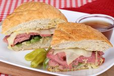 Beef And Cheese Sandwich Stock Images
