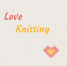 Free Love Knitting Royalty Free Stock Photo - 25105525