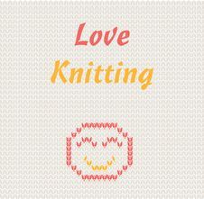 Free Love Knitting Royalty Free Stock Photography - 25105537
