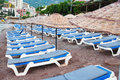 Free Rows Of Beach Chairs Royalty Free Stock Images - 25110809