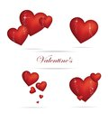 Free Valentine Heart Sign Set Red Color Royalty Free Stock Image - 25119816