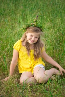 Free Girl In Meadow Royalty Free Stock Image - 25110496
