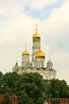 Domes Of Moscow Kremlin Stock Photography