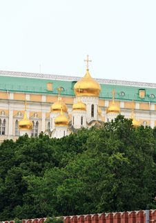 Domes Of Moscow Kremlin Royalty Free Stock Image