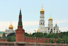 Free Domes Of Moscow Kremlin Stock Photo - 25112080