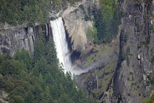 Yosemite Waterfall - Nevada Falls Stock Photo