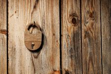 Free Old Padlock Royalty Free Stock Photos - 25113678