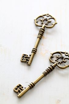 Free Antique Keys Royalty Free Stock Photo - 25115265