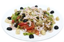 Free Salad With Shrimp Royalty Free Stock Image - 25116866