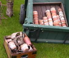 Old Terracotta Pots And Garden Tools