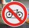 Free No Cycling Royalty Free Stock Photos - 25112218