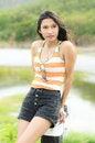Free Asian Woman Enjoy Nature View Stock Photography - 25127642