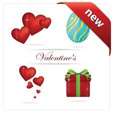 Creative Love And Hearts Symbols Set Royalty Free Stock Photos