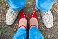 Free Man And Woman Royalty Free Stock Photo - 25124055