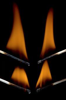 Free Burning Matchstick Stock Photo - 25125540