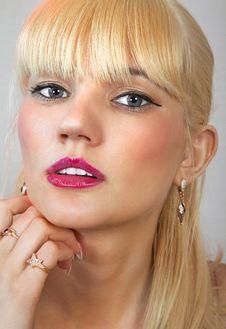 Free Face Of Beautiful Blonde L Stock Photos - 25126363