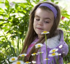 Free Girl In The Garden Stock Photography - 25126372