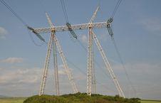 Free Electric Pylon Royalty Free Stock Photo - 25127785