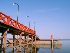 Red Pier Stock Photo