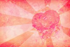 Free Grunge Heart On Paper Stock Photography - 25130862
