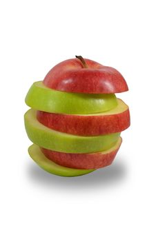 Free Green And Red Apple Slices Stock Images - 25131074