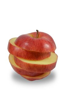 Free Red Apple Slices Royalty Free Stock Images - 25131089