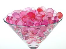 Free Transparent Pink Glass Beads Stock Photo - 25131970