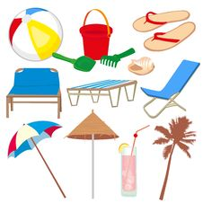 Free Vacation And Travel Icons Royalty Free Stock Photos - 25132888
