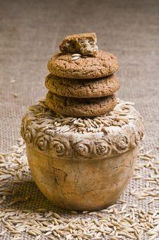 Free Oatmeal Cookies Stock Photos - 25132893