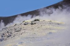 Crater Of The Volcano. Stock Images