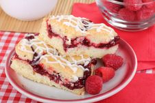 Free Raspberry Bars And Berries Stock Images - 25137844