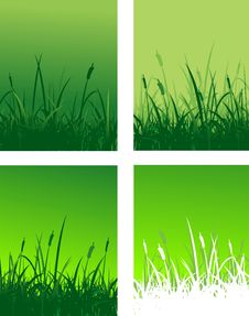 Free Grass Silhouette Decoration Royalty Free Stock Image - 25139486