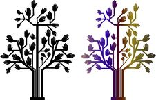 Illustration Of Hand Tree Royalty Free Stock Photos