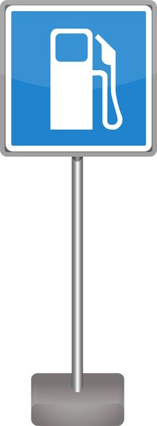 Free Gas Station Sign Stock Photos - 25140243