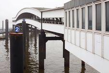 Free Oversea Pier In Hamburg Royalty Free Stock Photo - 25140375