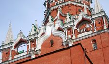 Free Moscow Kremlin Tower Detail Royalty Free Stock Photo - 25142205