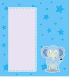 Free Greeting Card Baby Elephant Stock Photos - 25149073
