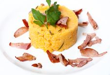 Free Сorn Porridge With Bacon Royalty Free Stock Images - 25149349