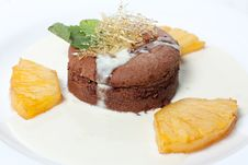 Free Chocolate Cake With Pineapple Royalty Free Stock Photos - 25149368