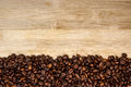 Free Coffee Beans Forming A  Stripe Frame Stock Image - 25151921