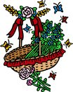 Free Basket Of Flowers Stock Photos - 25157173