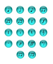Free Music Notes Stock Photo - 25154930